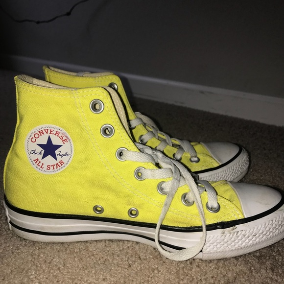 64fa2182a690bb ireland yellow high top converse womens size 6 4530b 1b63f